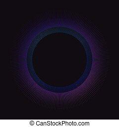 arcobaleno, cerchio, vettore, sunburst