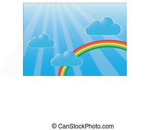 arcobaleno, cielo