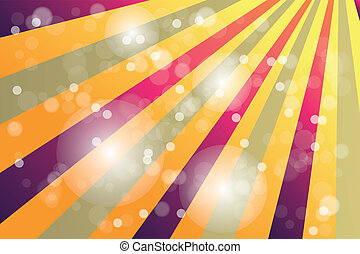 arcobaleno, colorare, manifesto, raggi sole, bokeh, vendemmia
