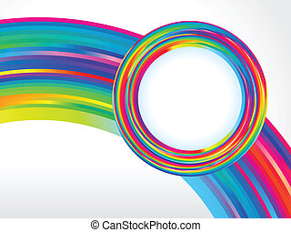 arcobaleno, colorito, astratto