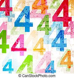 arcobaleno, colorito, disegno astratto, numeri, fondo