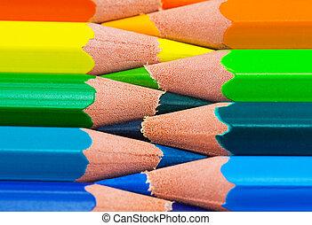 arcobaleno, colorito, fondo