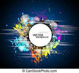 arcobaleno, colorito, testo, forma astratta, colori, fondo, bianco, tuo, circolare