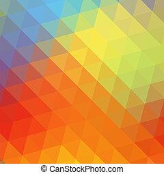 arcobaleno, colorito, triangolare, fondo