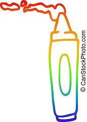 arcobaleno, coloritura, pendenza, disegno, pastello, linea, cartone animato