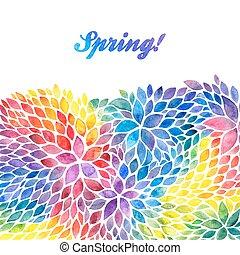 arcobaleno, dipinto, acquarello, colori, sagoma, invito