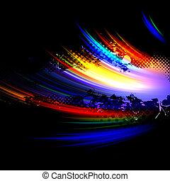 arcobaleno, disposizione, splatter