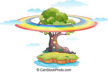arcobaleno, e, isola