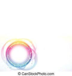 arcobaleno, effect., cornice, spazzola, cerchio, bordo