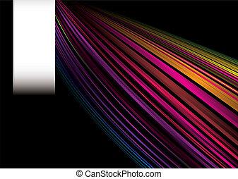 arcobaleno, etichetta, velocità
