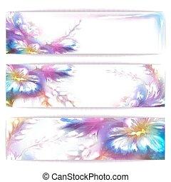 arcobaleno, fiore, cornice, vettore, fondo, bianco