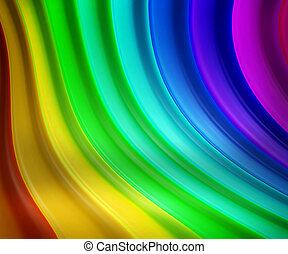 arcobaleno, fondo, palcoscenico