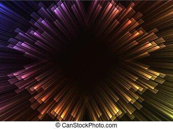arcobaleno, giunco, quadrato, sovrapposizione, scuro, striscia, fondo