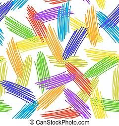 arcobaleno grunge, colorito, astratto, pattern., seamless, struttura, fondo., vettore, bianco