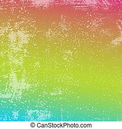 arcobaleno grunge, struttura
