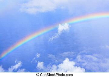 arcobaleno, in, cielo