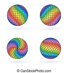 arcobaleno, luminoso, colorito, ball., sfera