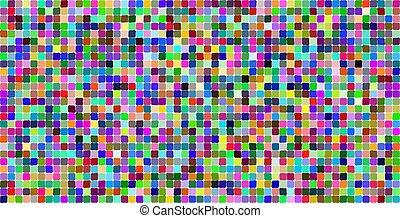 arcobaleno, luminoso, quadrato, seamless, colori, lacune, bianco, mosaico