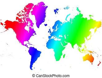 arcobaleno, mappa mondo