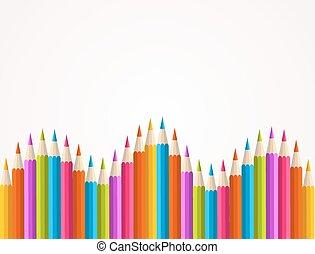 arcobaleno, matita, colorito, modello