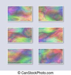 arcobaleno, multicolor, set, affari, schede.