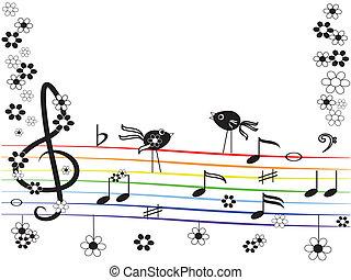 arcobaleno, musica
