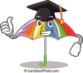 arcobaleno, ombrello, isolato, graduazione, mascotte