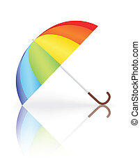arcobaleno, ombrello