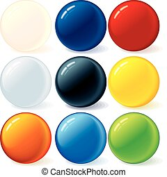 arcobaleno, palle, colorito