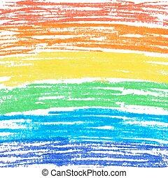 arcobaleno, pastello, fondo.