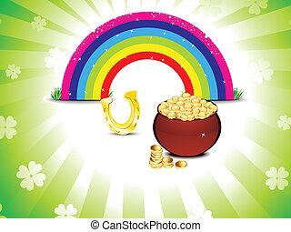 arcobaleno, patrick's, st, astratto