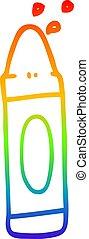 arcobaleno, pendenza, disegno, pastello verde, linea, cartone animato