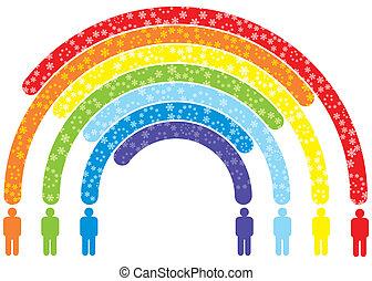 arcobaleno, persone