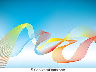 arcobaleno, presentazione, fondo