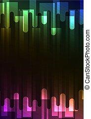 arcobaleno, quadrato, astratto, fondere, sovrapposizione, fondo