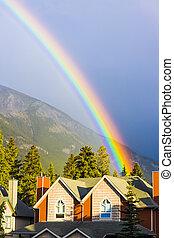 arcobaleno, secondo, il, tempesta