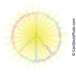 arcobaleno, segno pace