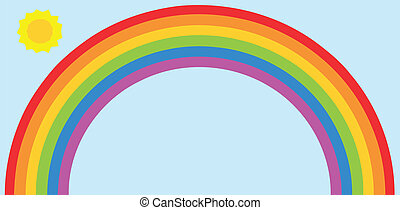 arcobaleno, sole