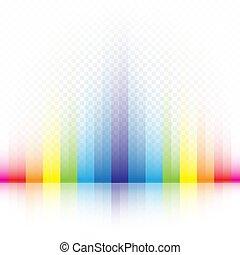 arcobaleno, strisce, colori, fondo