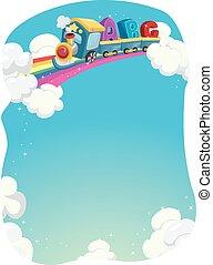 arcobaleno, treno