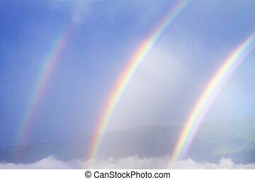 arcobaleno, triplo, raro