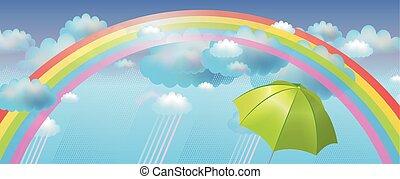 arcobaleno, vettore, fondo