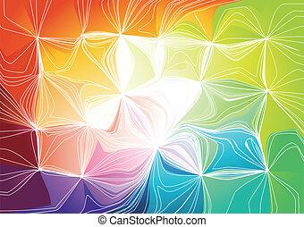 arcobaleno, vettore, illustrazione, fondo.