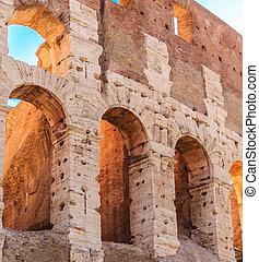 arcos, antiguo, coloseum