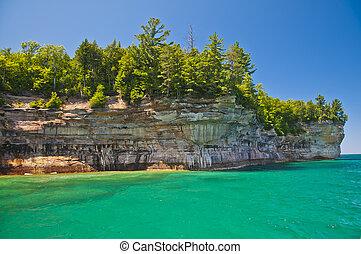 arcos, cavernas, mar, rocha