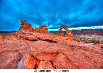 arcos parque nacional, em, moab, utah, eua