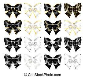arcs, blanc, réaliste, noir
