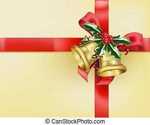arcs, cadeau, cloches