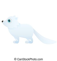 Arctic fox on a white background