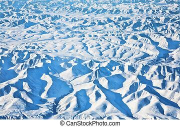 Arctic - Frozen terrain of the arctic showing mountains